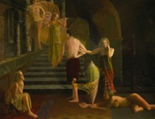 temptation – oil on wood – 44 x 66 – 1995-96