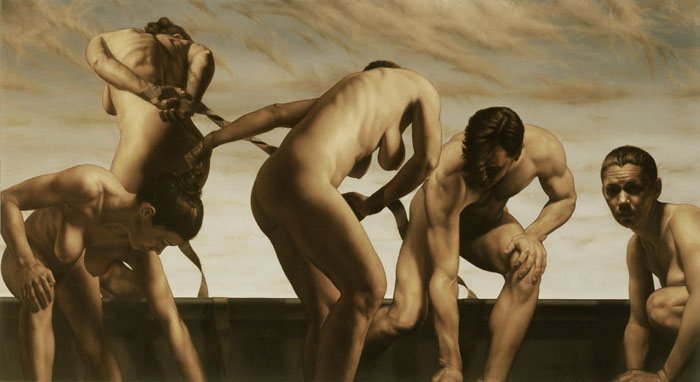 maintaining equality - oil on linen - 36 x 66 inch
