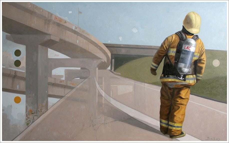 all is well - oil on canvas - Alekasander Balos, urban paintings - 30 x 48 inch