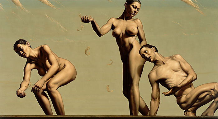 foolishness of man - oil on linen - 36 x 66 inch
