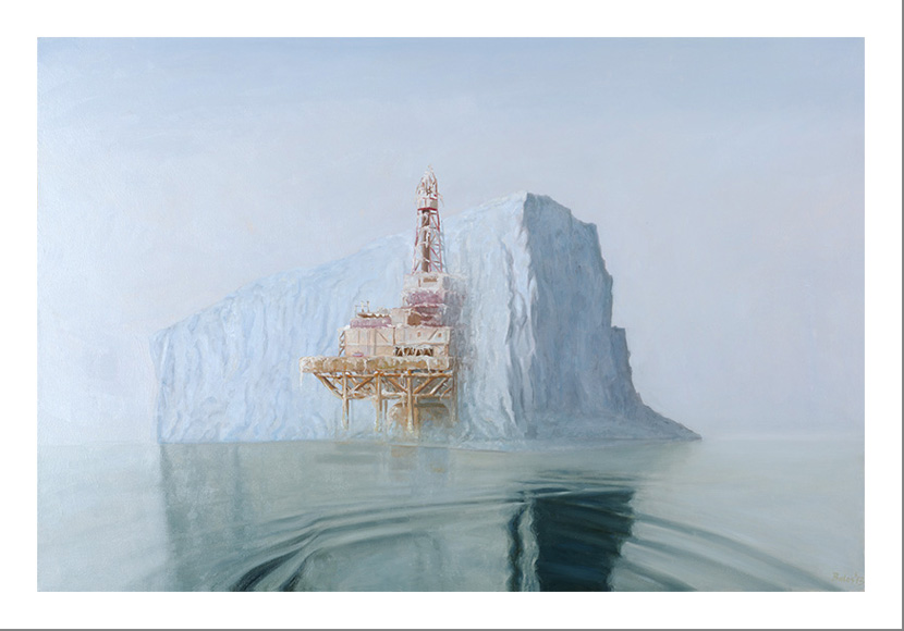 offshore iceberg - 24 x 36 - limited edition print
