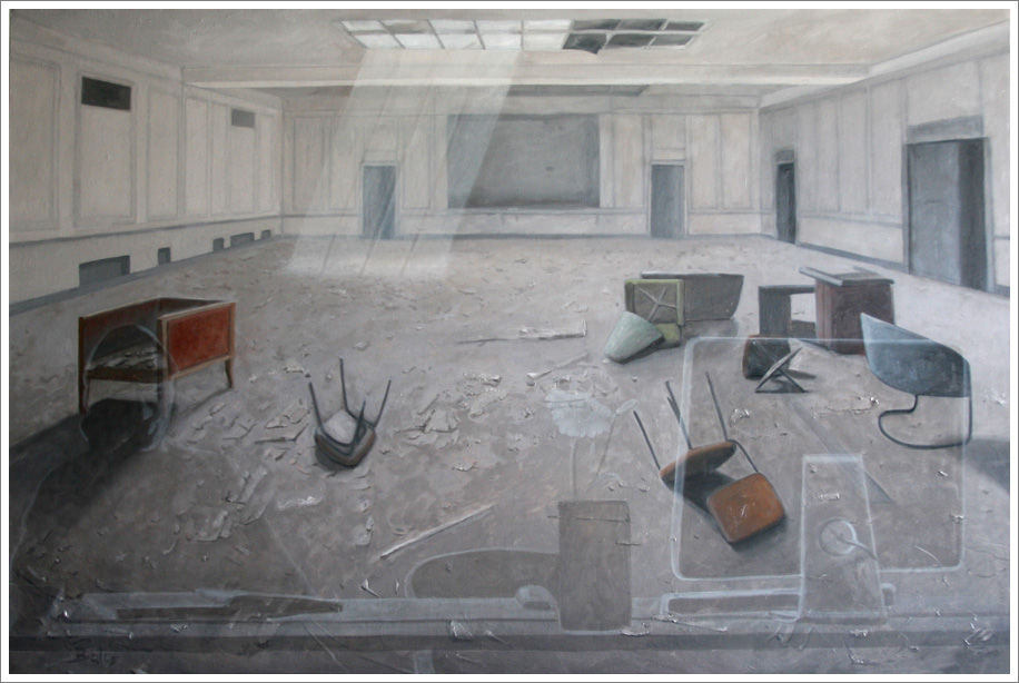 room - oil on canvas - contemporary oil paintings by aleksander balos.