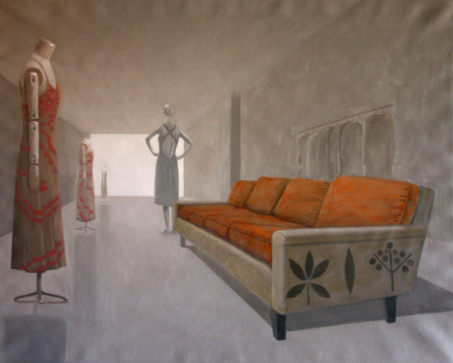 Contemporary Paintings of Interior Spaces, space #10, oil on linen,  32 x 40 inch