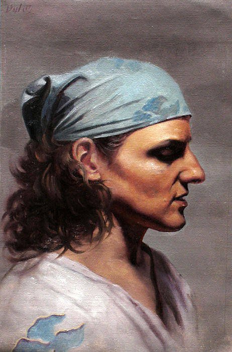 tina, oil painting