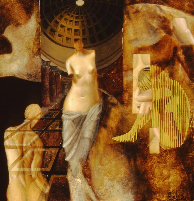 pantheon - oil on canvas - 16 x 18