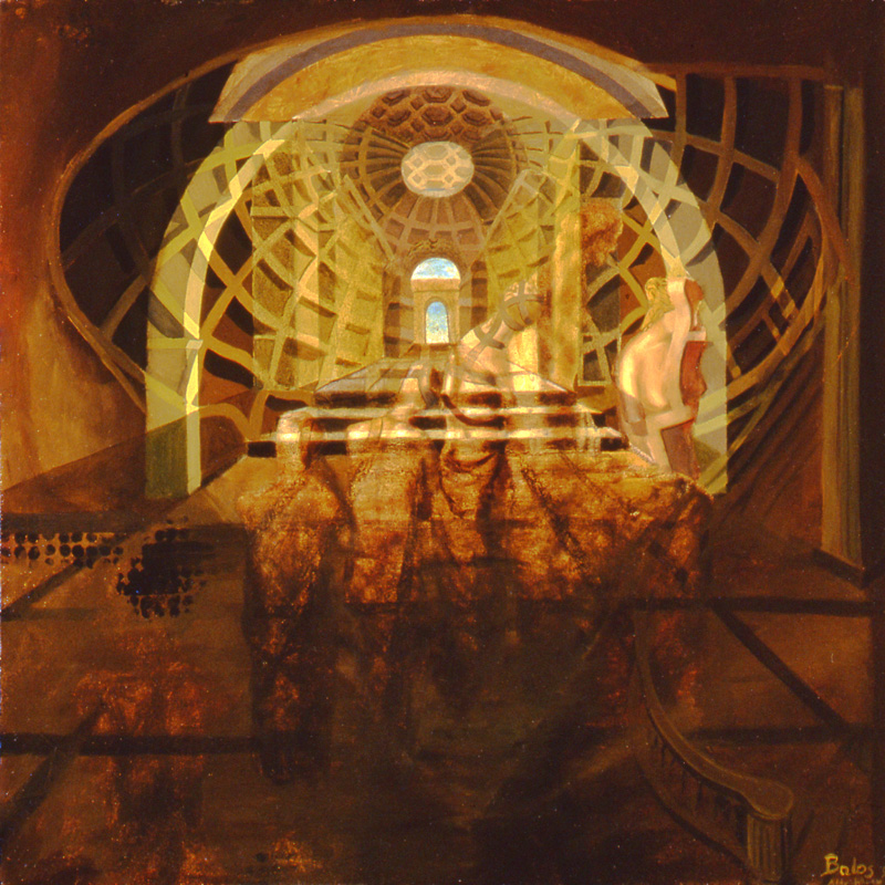 venus de milo - oil on canvas - 16 x 16