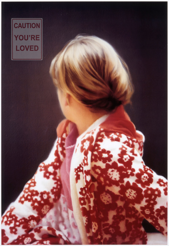 you are loved oil painting based on gerhard richter's betty